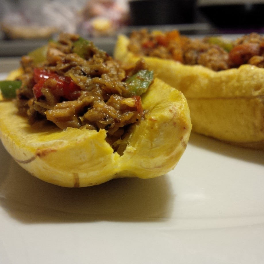 Grilled Plantains stuffed with SmokedTuna