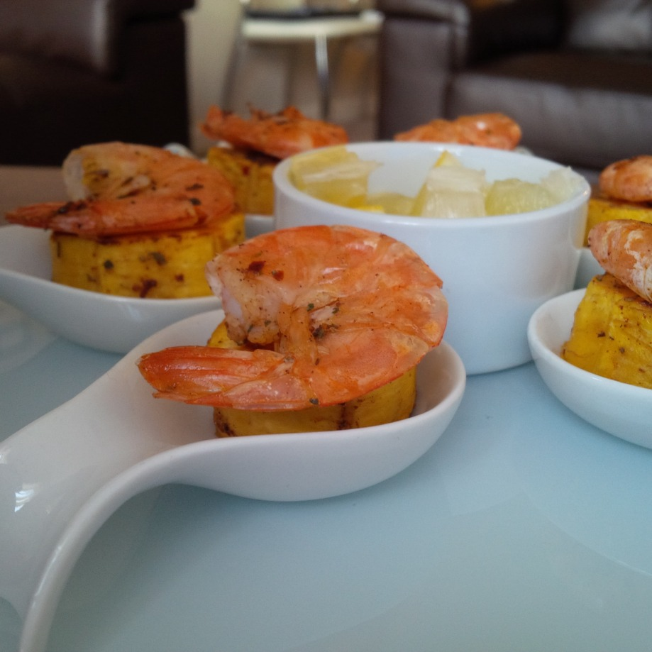 Grilled Prawntain Chops