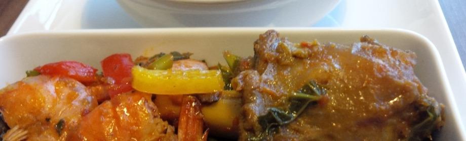 Truly Fine Dinning: Semolina & PrawnVeggies