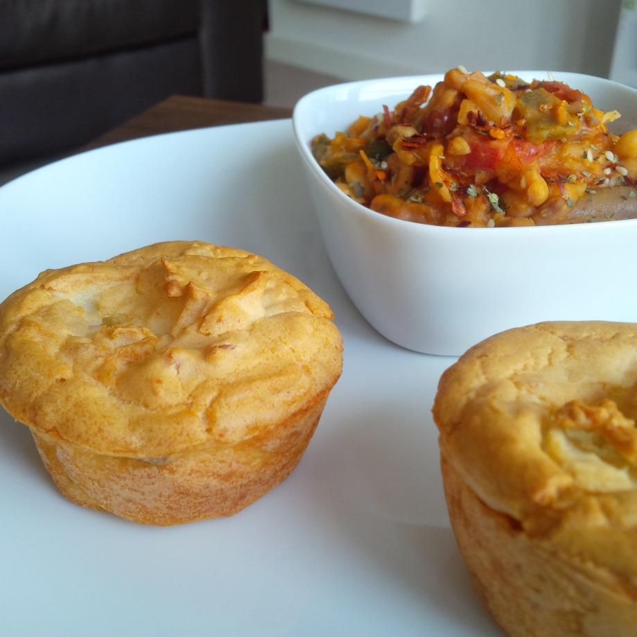 Potato Cakes & SpicyBeans