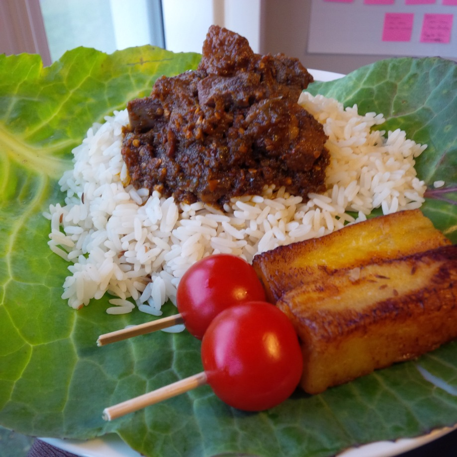Ayamashe with Pan Seared Plantain